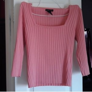 ❤️New York & Co. Pink 3/4 sleeve ribbed shirt